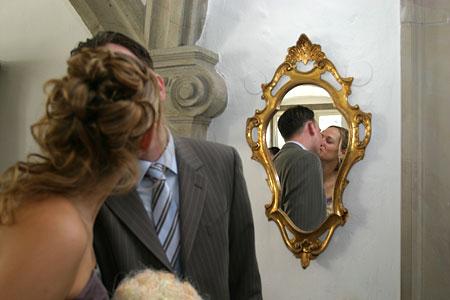 Hochzeit Karin und Oliver, Spiegelbild